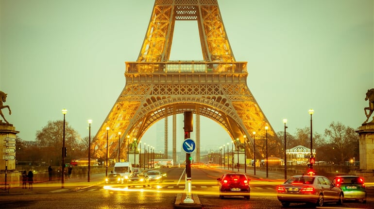 eiffel tower, long exposure, lights